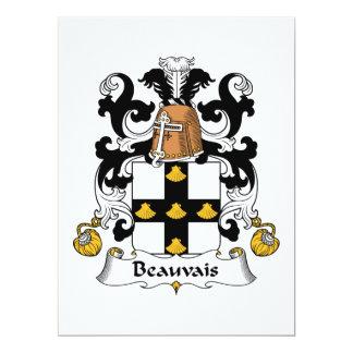 "Escudo de la familia de Beauvais Invitación 6.5"" X 8.75"""