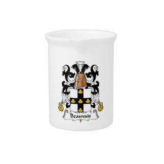 Escudo de la familia de Beauvais Jarrón