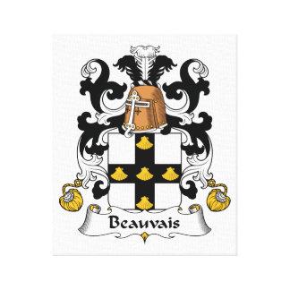 Escudo de la familia de Beauvais Impresión En Lona Estirada