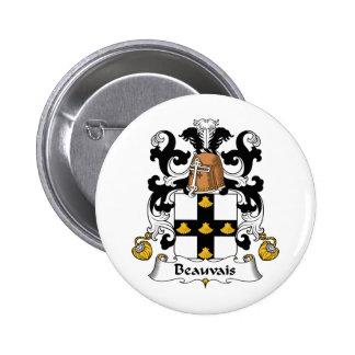 Escudo de la familia de Beauvais Pin Redondo 5 Cm
