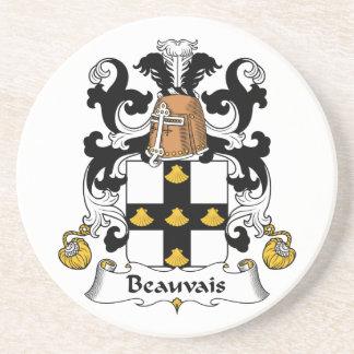Escudo de la familia de Beauvais Posavasos Para Bebidas