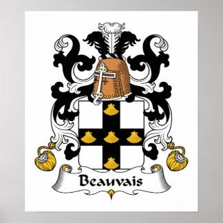 Escudo de la familia de Beauvais Póster
