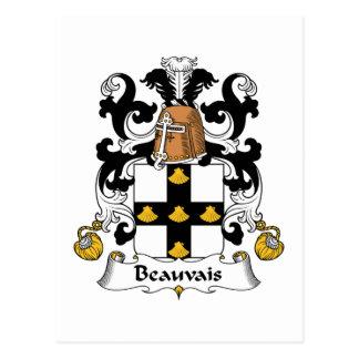 Escudo de la familia de Beauvais Tarjeta Postal