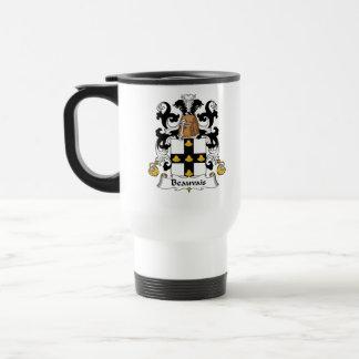 Escudo de la familia de Beauvais Taza De Viaje De Acero Inoxidable