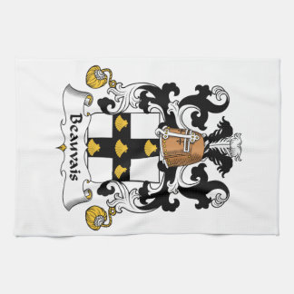 Escudo de la familia de Beauvais Toallas De Mano
