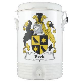 Escudo de la familia de Beck Vaso Enfriador Igloo