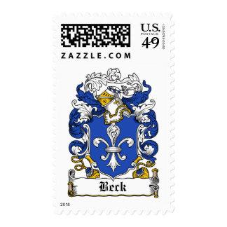 Escudo de la familia de Beck Estampillas