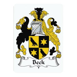 """Escudo de la familia de Beck Invitación 5"""" X 7"""""""