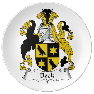 Escudo de la familia de Beck Platos De Cerámica
