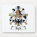 Escudo de la familia de Beck Tapetes De Raton