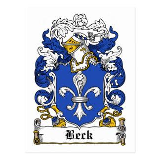 Escudo de la familia de Beck Tarjetas Postales