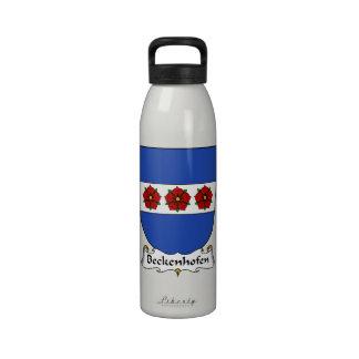 Escudo de la familia de Beckenhofen Botellas De Agua Reutilizables