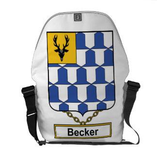 Escudo de la familia de Becker Bolsa De Mensajeria