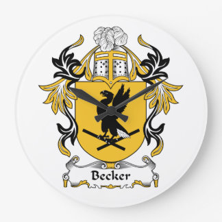 Escudo de la familia de Becker Reloj Redondo Grande