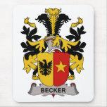 Escudo de la familia de Becker Alfombrilla De Ratones