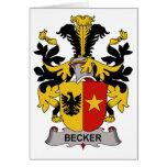 Escudo de la familia de Becker Tarjeton