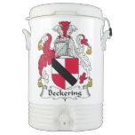 Escudo de la familia de Beckering Vaso Enfriador Igloo