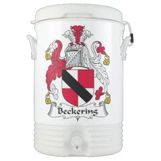 Escudo de la familia de Beckering Enfriador De Bebida Igloo