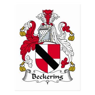 Escudo de la familia de Beckering Tarjetas Postales