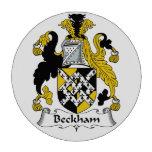 Escudo de la familia de Beckham Juego De Fichas De Póquer