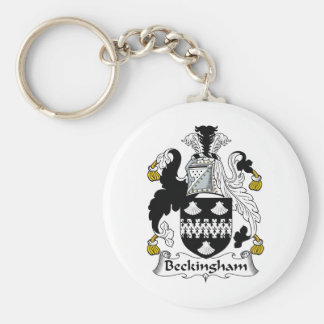 Escudo de la familia de Beckingham Llavero Redondo Tipo Pin