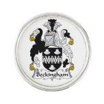 Escudo de la familia de Beckingham Pin