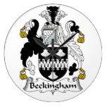Escudo de la familia de Beckingham Reloj De Pared