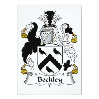 """Escudo de la familia de Beckley Invitación 5"""" X 7"""""""