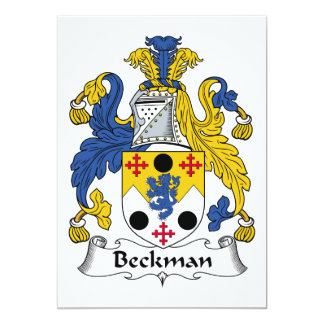 """Escudo de la familia de Beckman Invitación 5"""" X 7"""""""