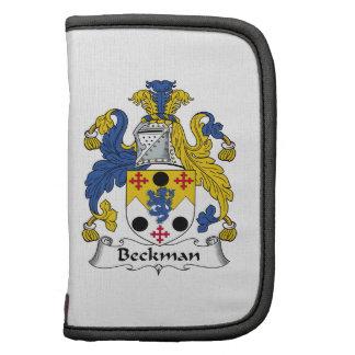 Escudo de la familia de Beckman Organizador