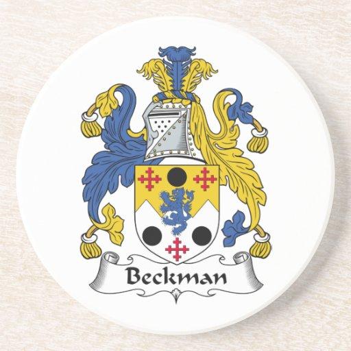Escudo de la familia de Beckman Posavasos Personalizados