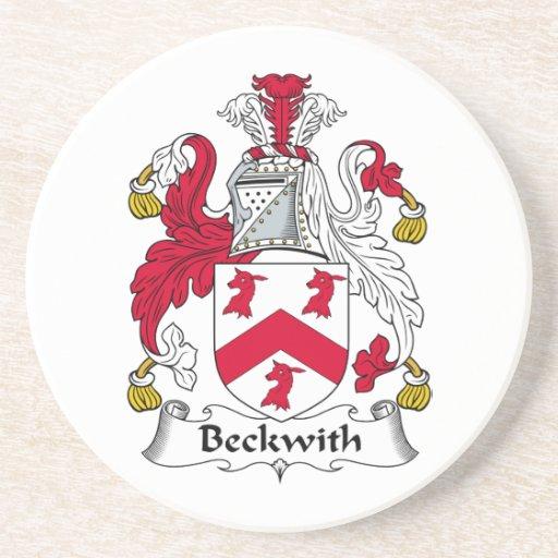 Escudo de la familia de Beckwith Posavasos Para Bebidas