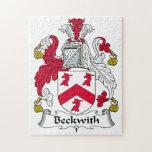 Escudo de la familia de Beckwith Puzzle