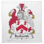 Escudo de la familia de Beckwith Servilletas Imprimidas