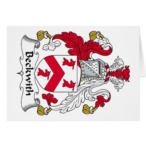 Escudo de la familia de Beckwith Tarjeta De Felicitación