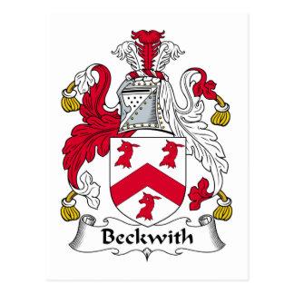 Escudo de la familia de Beckwith Tarjetas Postales