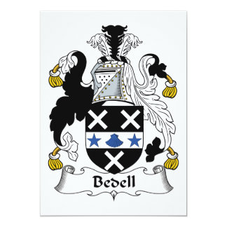 """Escudo de la familia de Bedell Invitación 5"""" X 7"""""""
