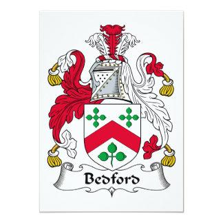 """Escudo de la familia de Bedford Invitación 5"""" X 7"""""""