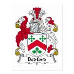 Escudo de la familia de Bedford Tarjeta Postal