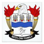 Escudo de la familia de Bedlow Invitación 13,3 Cm X 13,3cm