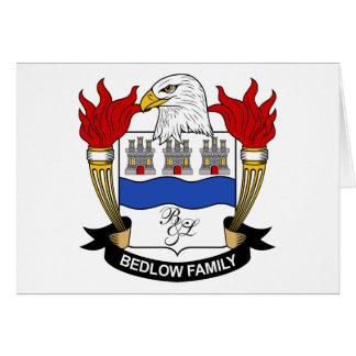 Escudo de la familia de Bedlow Tarjeta