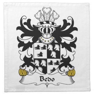 Escudo de la familia de Bedo Servilletas Imprimidas