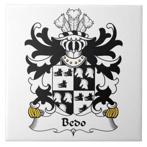 Escudo de la familia de Bedo Teja Cerámica