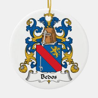Escudo de la familia de Bedos Adorno Navideño Redondo De Cerámica