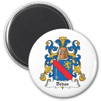 Escudo de la familia de Bedos Imán Redondo 5 Cm