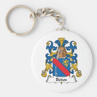 Escudo de la familia de Bedos Llavero Redondo Tipo Pin