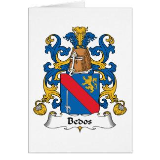 Escudo de la familia de Bedos Tarjeta De Felicitación