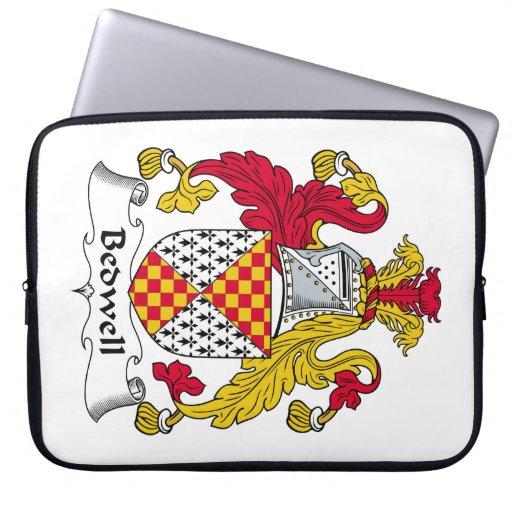 Escudo de la familia de Bedwell Funda Portátil