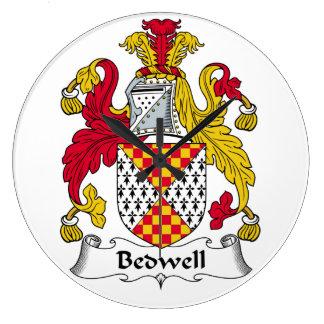 Escudo de la familia de Bedwell Reloj Redondo Grande