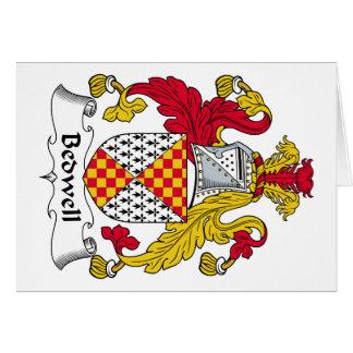 Escudo de la familia de Bedwell Tarjeta De Felicitación